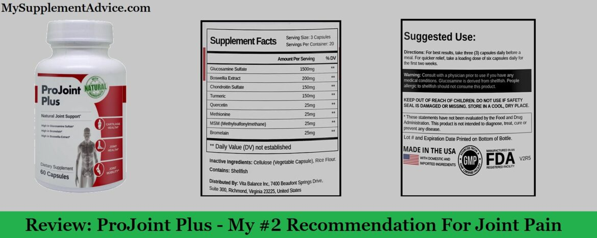 (2020) Review: ProJoint Plus - My #2 Recommendation For Joint Pain