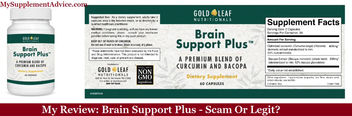 My Review: Brain Support Plus (2020) – Scam Or Legit?