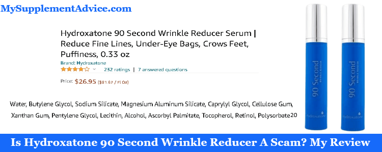 Is Hydroxatone 90 Second Wrinkle Reducer A Scam? My Review (2021)