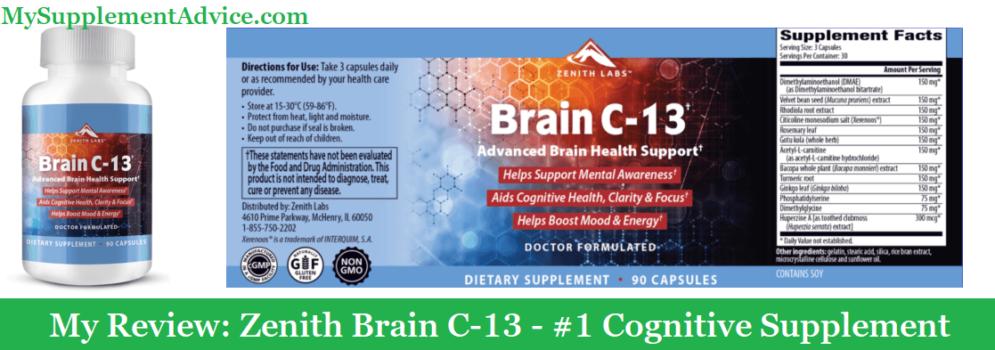 My Review: Zenith Brain C-13 (2021) – #1 Cognitive Supplement