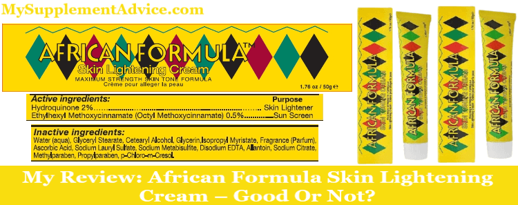My Review: African Formula Skin Lightening Cream (2021) – Good Or Not?