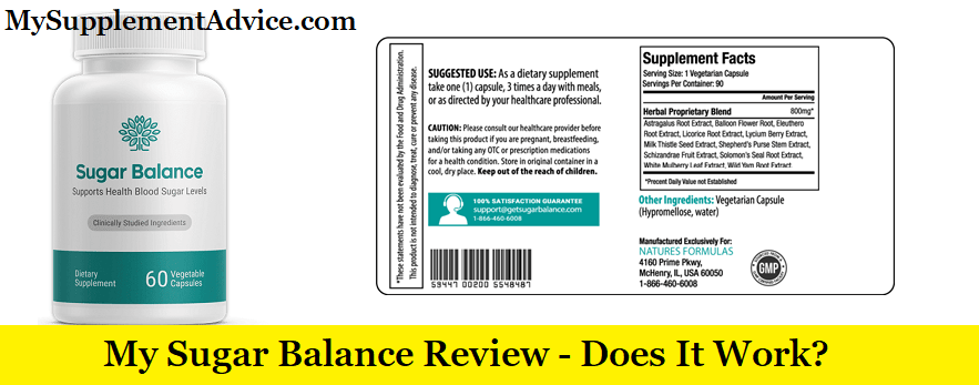 My Sugar Balance Review (2021) – Scam Or Does It Work?